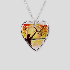 Katniss Radiant as The Sun Necklace Heart Charm