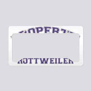 rottweilerproperty License Plate Holder