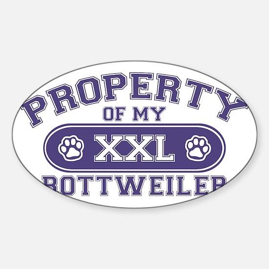 rottweilerproperty Sticker (Oval)