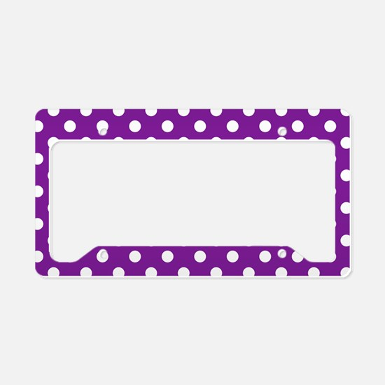 purple-polkadot-laptop-skin License Plate Holder