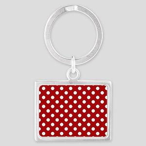 red-polkadot-laptop-skin Landscape Keychain