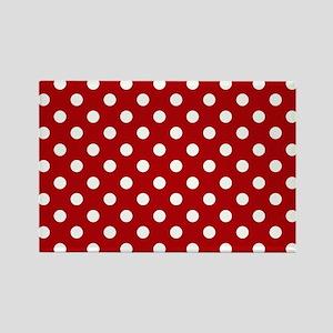 red-polkadot-laptop-skin Rectangle Magnet