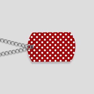 red-polkadot-laptop-skin Dog Tags
