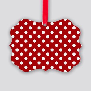 red-polkadot-laptop-skin Picture Ornament
