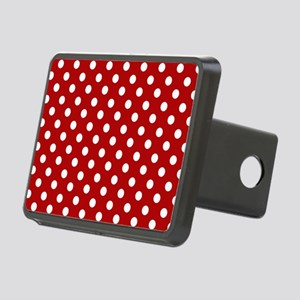 red-polkadot-laptop-skin Rectangular Hitch Cover
