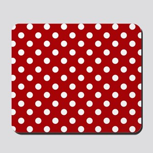 red-polkadot-laptop-skin Mousepad