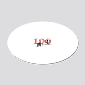 100rf 20x12 Oval Wall Decal