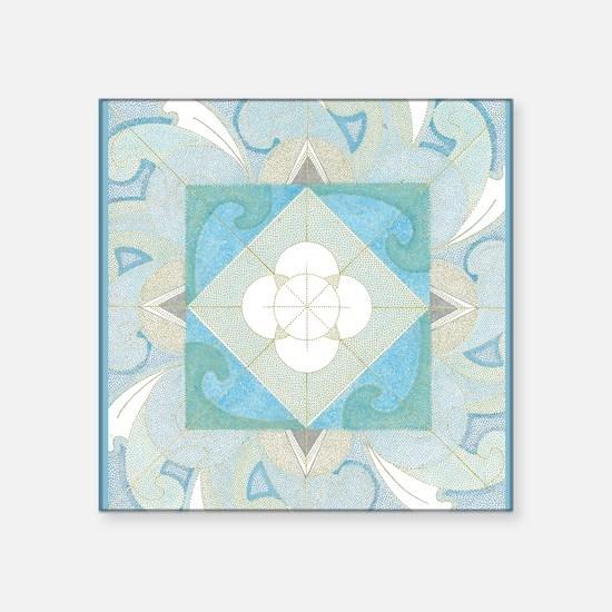 "CardFront-Yemanja Square Sticker 3"" x 3"""