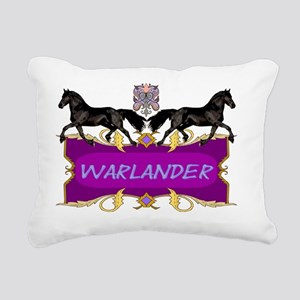 Warlander Crest Purple Rectangular Canvas Pillow