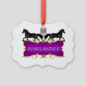 Warlander Crest Purple Picture Ornament