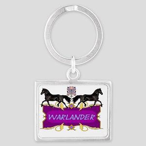 Warlander Crest Purple Landscape Keychain