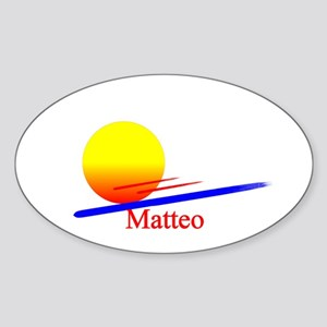 Matteo Oval Sticker