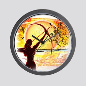 Katniss Quote. I am not pretty....The H Wall Clock