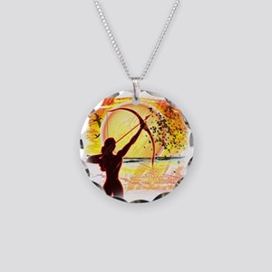 Katniss Quote. I am not pret Necklace Circle Charm