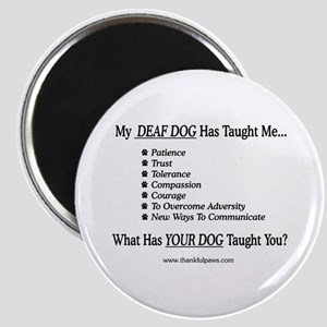 My Deaf Dog Taught Me Magnet