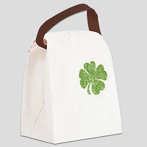 love_shamrock_white Canvas Lunch Bag