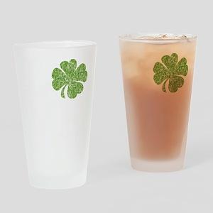 love_shamrock_white Drinking Glass