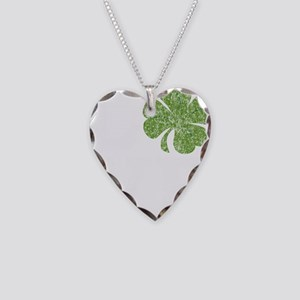 love_shamrock_white Necklace Heart Charm