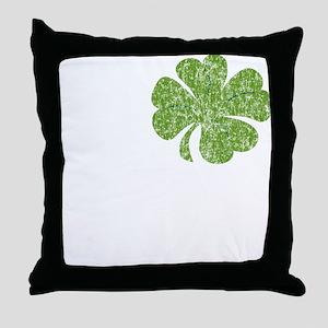 love_shamrock_white Throw Pillow