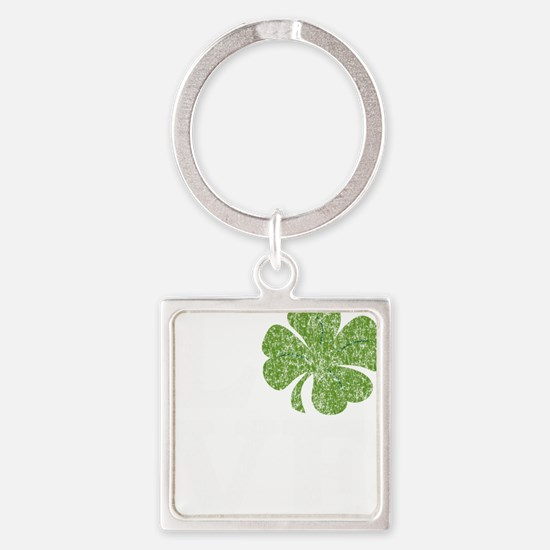 love_shamrock_white Square Keychain