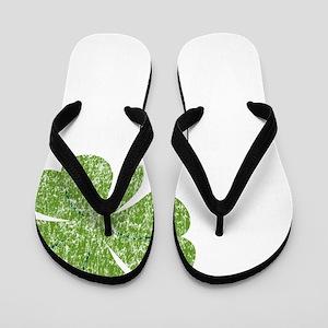 love_shamrock_white Flip Flops