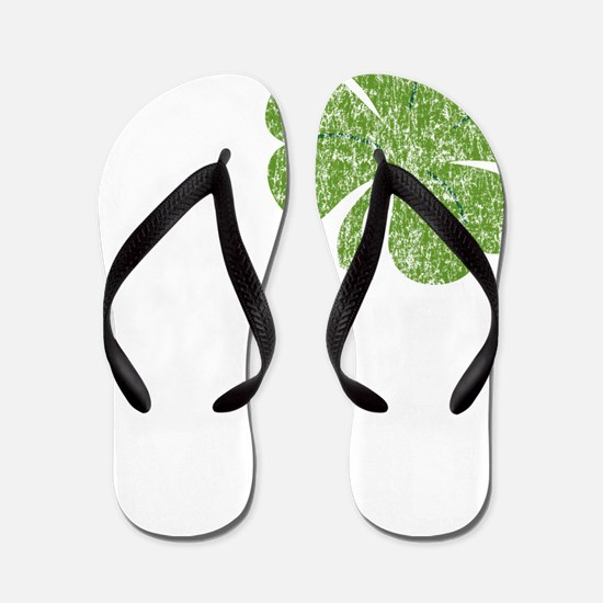 love_shamrock_white Flip Flops