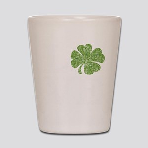 love_shamrock_white Shot Glass