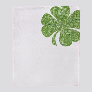 love_shamrock_white Throw Blanket