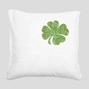 love_shamrock_white Square Canvas Pillow