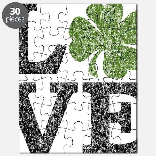 love_shamrock_black Puzzle