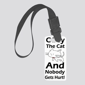 cat obey the cat 1 Small Luggage Tag