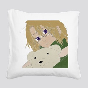 Canada and Kumajiro Square Canvas Pillow