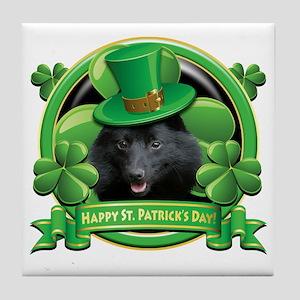 Happy St Patricks Day Schipperke Tile Coaster