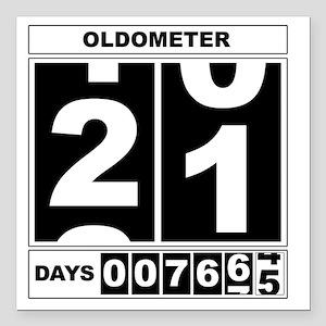 "Oldometer 21 Square Car Magnet 3"" x 3"""