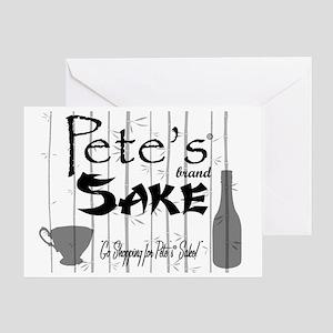 Petes Sake Greeting Card