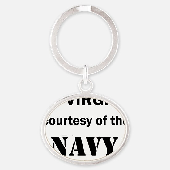 Art_72 virgins_navy Oval Keychain