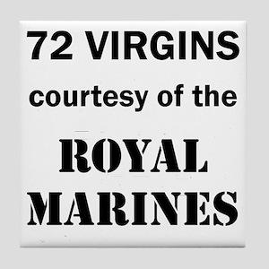 Art_72 virgins_royal marines Tile Coaster