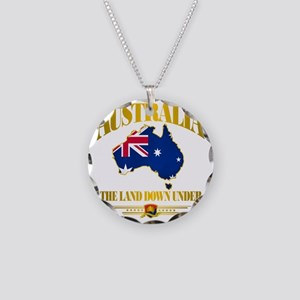 Land Down Under Necklace Circle Charm