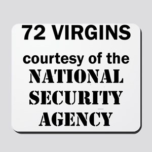 Art_72 virgins_national security agency Mousepad
