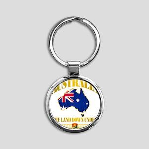 Land Down Under Round Keychain