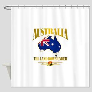 Land Down Under Shower Curtain