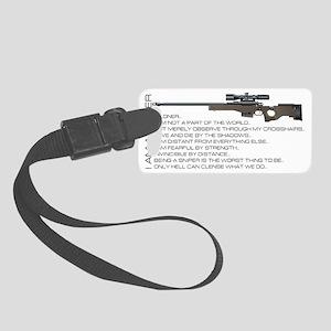 I am a sniper Small Luggage Tag