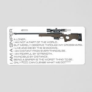 I am a sniper Aluminum License Plate