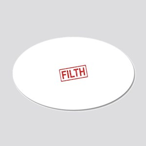 ss-filth 20x12 Oval Wall Decal