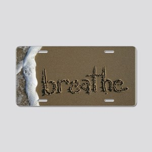breathe Aluminum License Plate