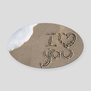 i love you 2011 Oval Car Magnet