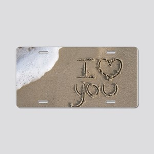 i love you 2011 Aluminum License Plate