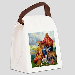 JesusAnimaltee2 Canvas Lunch Bag