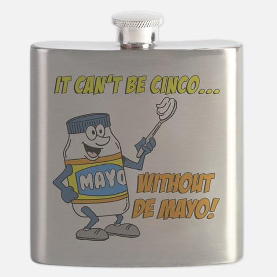 Funny Cinco De Mayo Shirt Flask