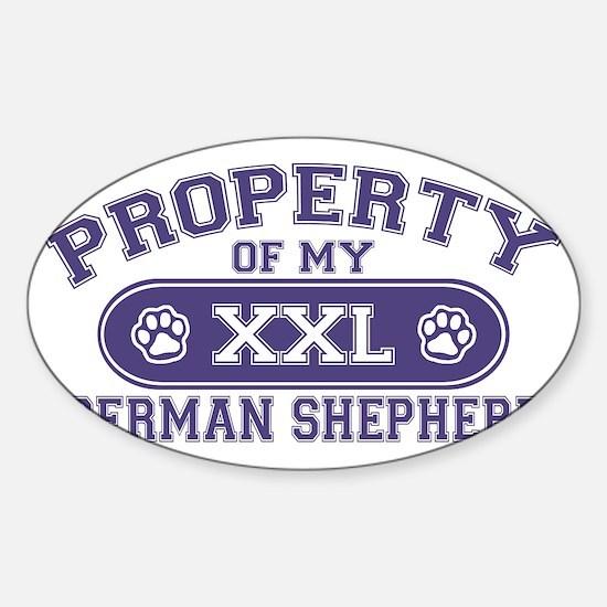 germanshepherdproperty Sticker (Oval)